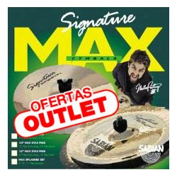 "SET PLATOS SABIAN CHINA 10"" + SPLASH 10"" MAX STAX"