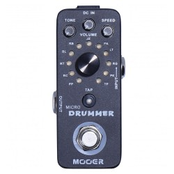 MOOER EFFECTS MICRO DRUMMER Pedal con bateria