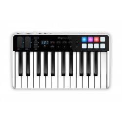 Compact production station: 24-bit, 96kHz Audio interface + 49-key keyboard controller for iOS (IKMULTIMEDIA)