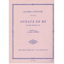 Leclair Sonata en Re (2 Saxofones)