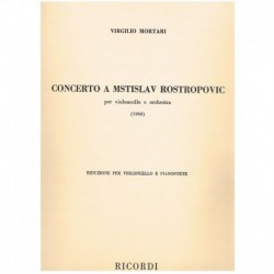 Mortari. Concierto a Mstislav Rostropovic (1968) (Cello y Piano)