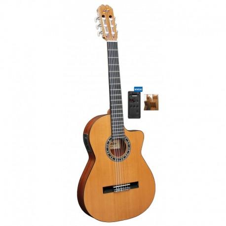 Guitarra ADMIRA Malaga Electrificada Cutaway Estrecha FISHMAN