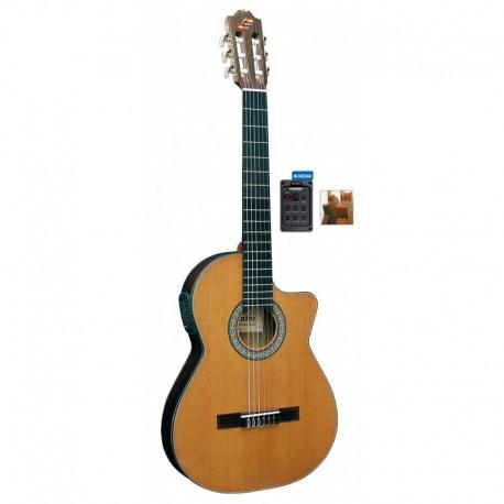 Guitarra ADMIRA Virtuoso Electrificada Cutaway Estrecha FISHMAN