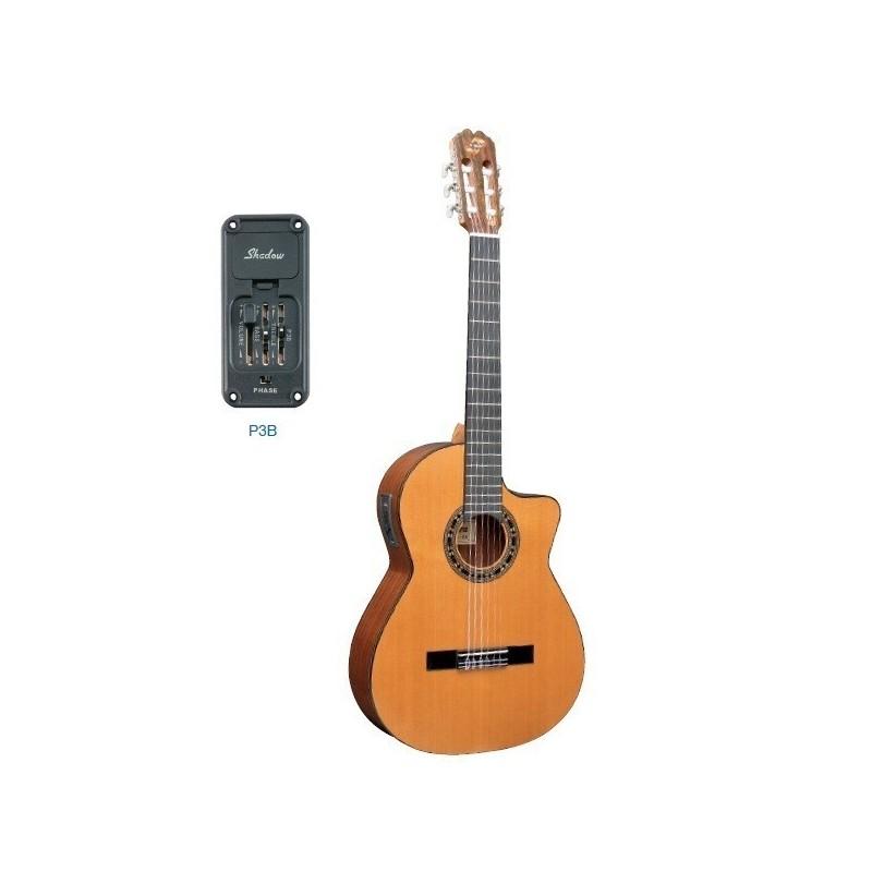 Guitarra admira malaga electrificada cutaway for Guitarra admira