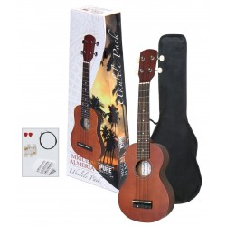 Ukulele Almeria Player Pack Ukelele color marrón