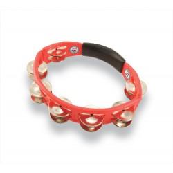 Panderetas Cyclop para mano Sonajas de acero, roja