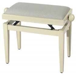 Banquetas para Piano FX Marfil brillo Asiento beige