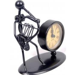 Escultura con reloj Flöte Corno francés