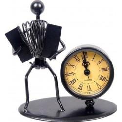 Escultura con reloj Flöte Acordeón