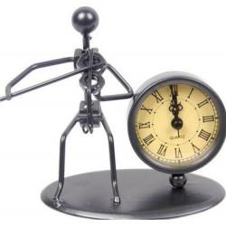 Escultura con reloj Flöte Violín