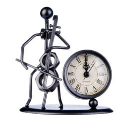 Escultura con reloj Flöte Violonchelo