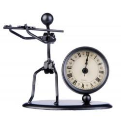 Escultura con reloj Flöte Flauta