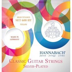 Cuerdas para Guitarra Clásica, Serie 600 Tensión Alta Plateado Juego de cuerdas