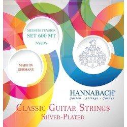 Cuerdas para Guitarra Clásica, Serie 600 Medium tension Plateado Juego de cuerdas