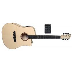 Guitarra electro-acústica P-10 CE Polaris Satinado natural, poro abierto