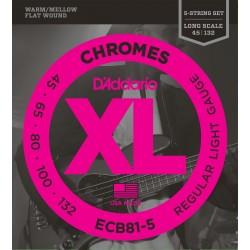 ecb81 5 chromes bass 5 string light long scale 45 132