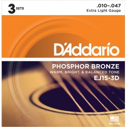 ej15 phosphor bronze extra light pack 3 juegos