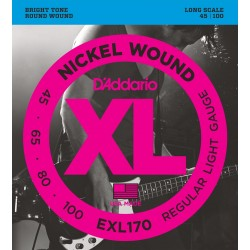 exl170 nickel wound bass light long scale 45 100