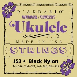 j53 hawaiian ukulele black nylon