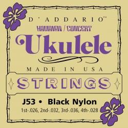 j53 hawaiian ukulele black nylon