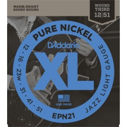 D'Addario EPN21 Pure Nickel Jazz Light [12 51]
