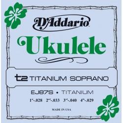 ej87s titanium ukulele soprano