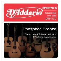 epbb170 5 phosphor bronze 5 string long scale 45 130