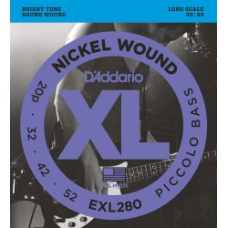 exl280 nickel wound piccolo bass long scale 20 52