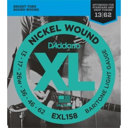 D'Addario EXL158 Baritone Guitar Light [13 62]
