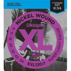 D'Addario EXL1207 XL Super Light 7 String [09 54]