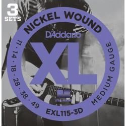 D'Addario EXL115 3D XL Blues/Jazz Rock [11 49]