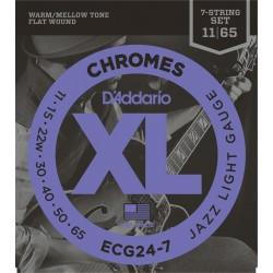 D'Addario ECG24 7 Chromes Jazz Light 7 Strings [011 65]