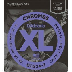 ecg24 7 chromes jazz light 7 strings 011 65