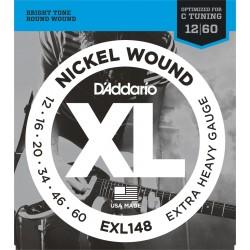 D'Addario EXL148 Nickel Wound, Extra Heavy [12 60]