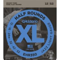 D'Addario EHR350 Half Rounds Jazz Light [12 52]