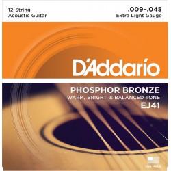 ej41 12 string phosphor bronze extra light 9 45