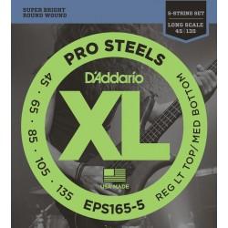 EPS165-5 ProSteels 5-String Bass Custom Light Lon Scale [45-135]