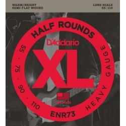 D'Addario ENR73 Half Rounds Heavy [55 110] Long Scale