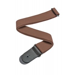cotton guitar strap brown