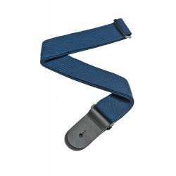 cotton guitar strap blue