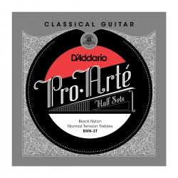bnn 3t pro arte classical halfsets black nylon normal tension