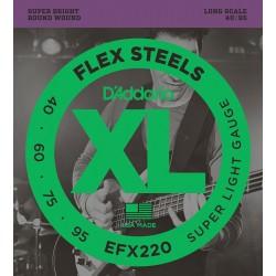 D'Addario EFX220 FlexSteels Super Light Long Scale [40 95]