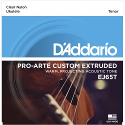 ej65t pro art custom extruded nylon ukulele strings tenor