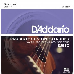 ej65c pro art custom extruded nylon ukulele strings concert