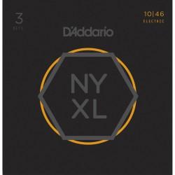 D'Addario NYXL1046 Regular Light [10 46] Pack 3 juegos