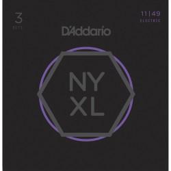 D'Addario NYXL1149 Medium [11 49] Pack 3 juegos