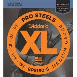 D'Addario EPS160 5 ProSteels Medium Long Scale [50 135]