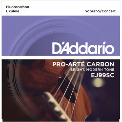 ej65s pro art custom extruded nylon ukulele strings soprano
