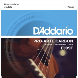 ej99t pro art carbon ukulele strings tenor