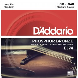 ej74 mandolin strings phosphor bronze medium 11 40